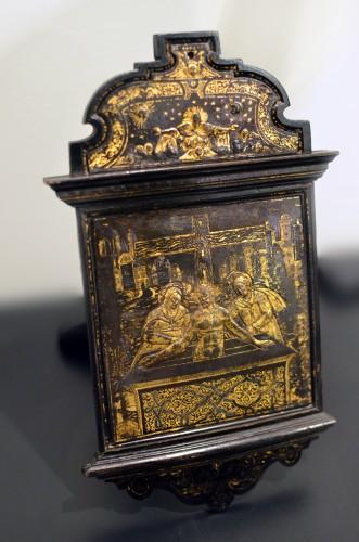 Religious Antiques  - A damascened devotional pax - workshop of Giovan Battista Panzeri