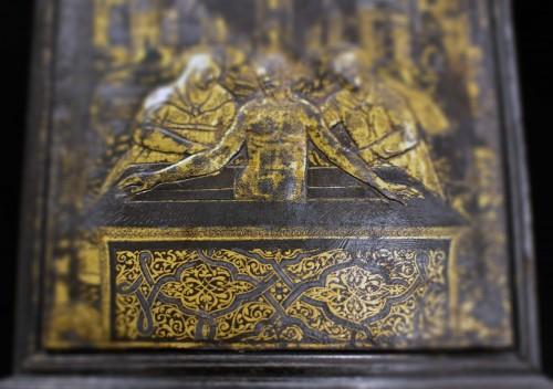 <= 16th century - A damascened devotional pax - workshop of Giovan Battista Panzeri