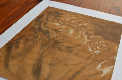 St John in Mourning - Circle of Hans Baldung Grien - Paintings & Drawings Style Renaissance