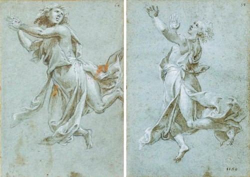 Two 16th cent. 'modellini' of angels in adoration, attr. to Carlo Urbino