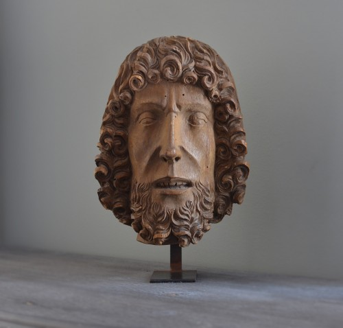 Head of John the Baptist - Sculpture Style Middle age
