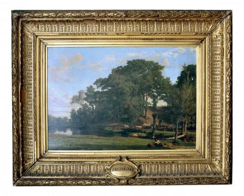 A Woodland Riverscape by Prosper Georges Antoine Marilhat