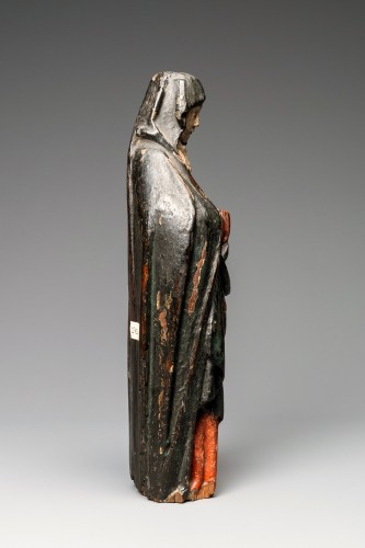 Religious Antiques  - A Gothic Burgundian polychrome oak Madonna