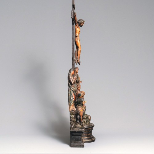 Religious Antiques  - An Impressive 16th century European wood-carved Cavalry Group