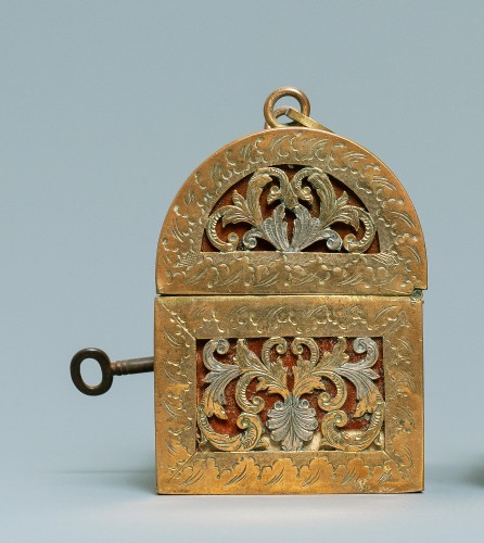 17th century - An exquisite silvered brass French coffret of the 17th century