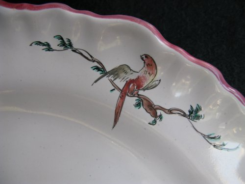 XVIIIth century landscape Plate MOUSTIERS -