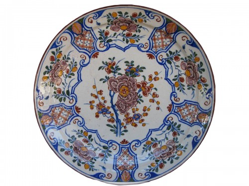 Delft faience plate - 18th century