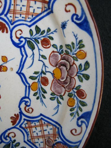 Porcelain & Faience  - Delft faience plate - 18th century