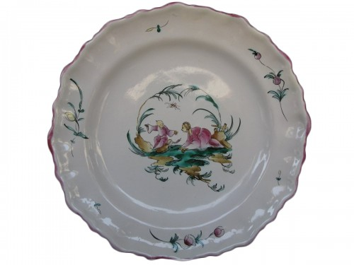 Moustiers Faience plate to Chinese - 18th century