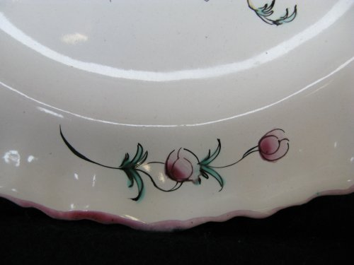 Moustiers Faience plate to Chinese - 18th century -