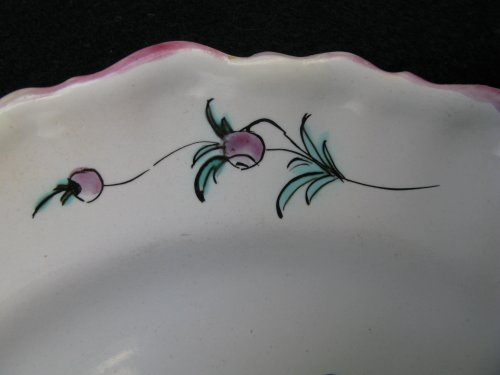 18th century - Moustiers Faience plate to Chinese - 18th century