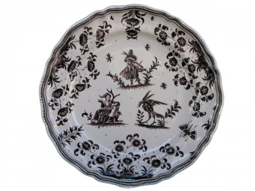 18th century MOUSTIERS Plate