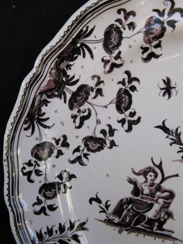 18th century MOUSTIERS Plate -