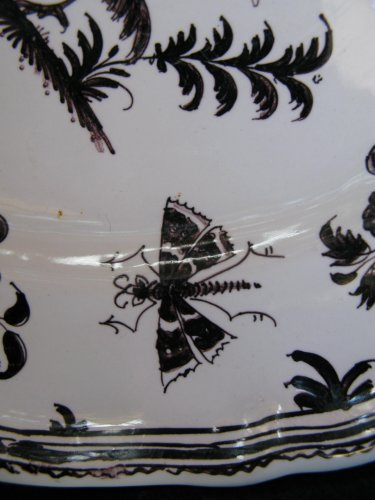 Antiquités - 18th century MOUSTIERS Plate