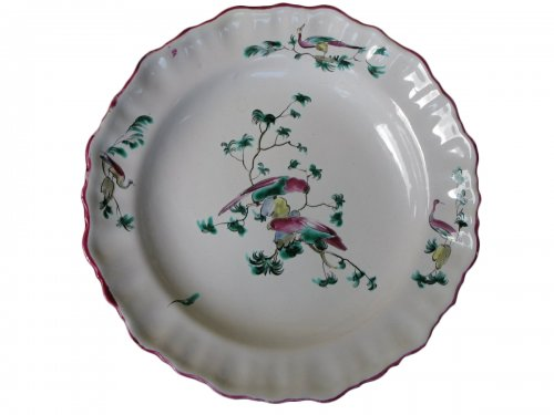 Moustiers 18th century Parakeets Plate