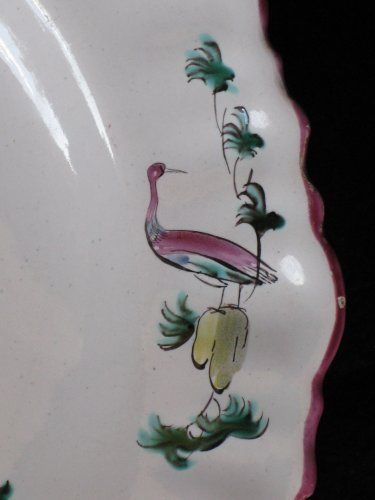 Moustiers 18th century Parakeets Plate  -