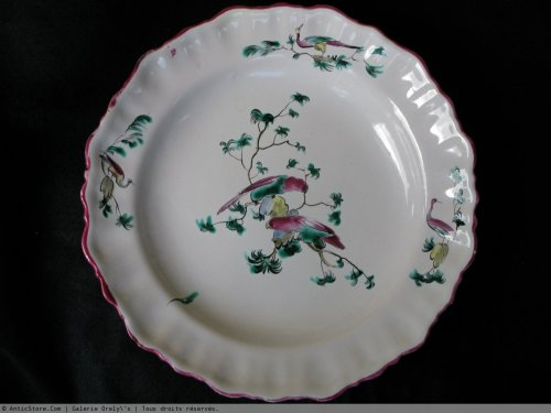 18th century - Moustiers 18th century Parakeets Plate