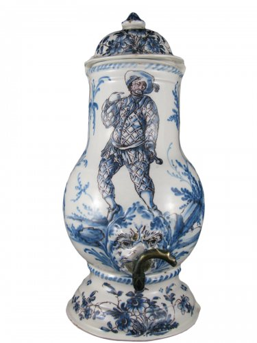18th century French Lyon faience Body of fountain
