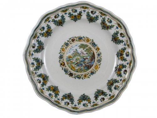 French Moustiers Plate - 18th century