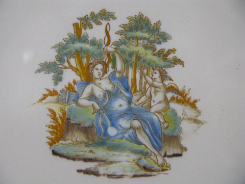 Plate in faience of Lyon, 18th century - Porcelain & Faience Style Louis XV