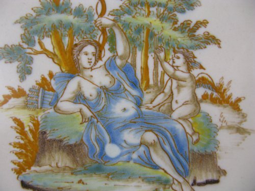 Porcelain & Faience  - Plate in faience of Lyon, 18th century