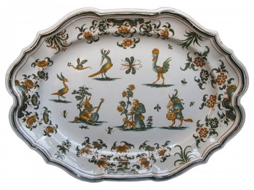 18th century Moustiers Oval platter