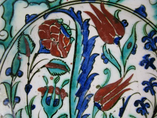 Porcelain & Faience  - IZNIK dish, 18th century