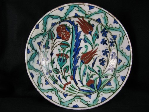 Louis XIV - IZNIK dish, 18th century