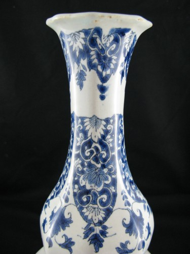 Porcelain & Faience  - Lille earthenware bottle vase 18th century