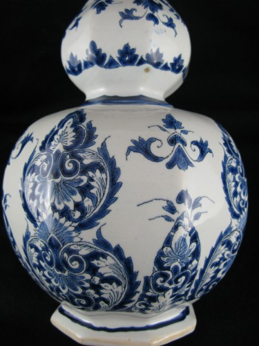 Lille earthenware bottle vase 18th century -