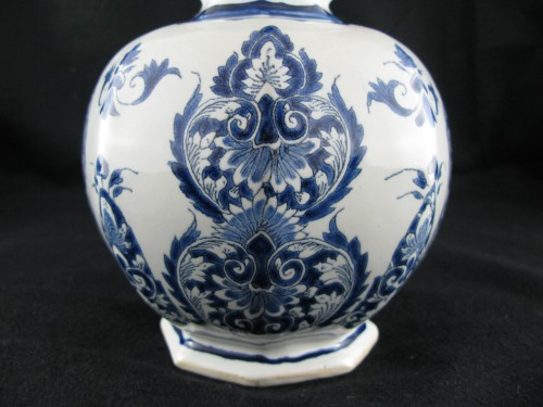 18th century - Lille earthenware bottle vase 18th century