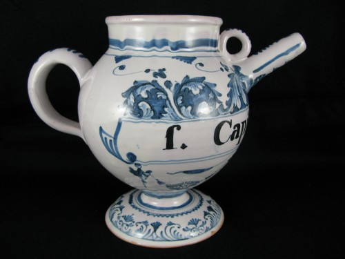 18th century Chevrette in Bordeaux faaience -