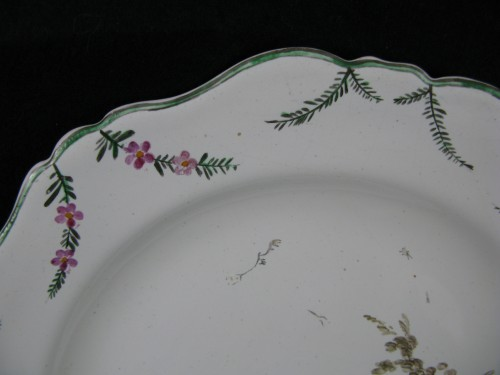 "18th century - Marseille Plate called ""A la bergerie"" - G.ROBERT"