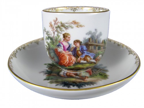 MEISSEN porcelain cup and saucer, MARCOLINI period