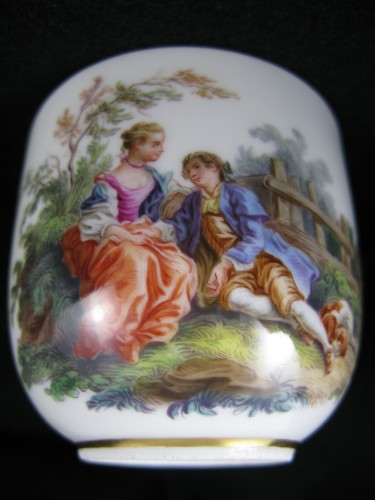 MEISSEN porcelain cup and saucer, MARCOLINI period - Directoire