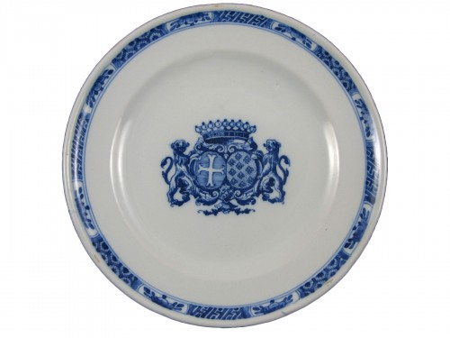 Armorial plate - Clérissy Moustiers 18th century