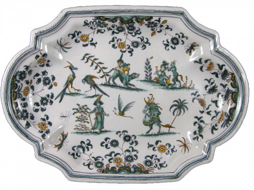 "18th century Moustiers ""grotesques"" dish"
