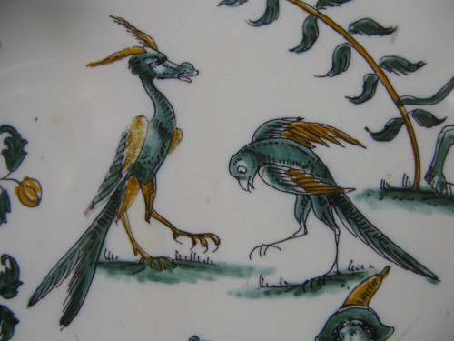 """Porcelain & Faience  - 18th century Moustiers """"grotesques"""" dish"""