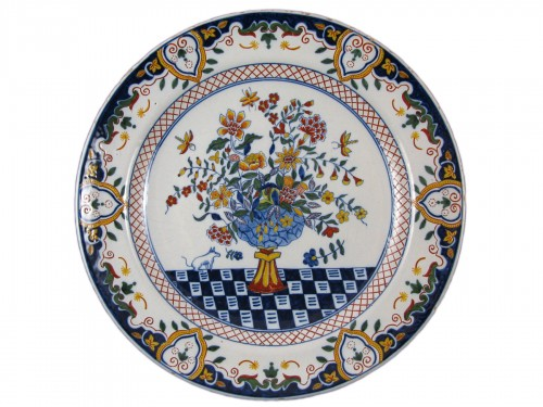 18th century Delft earthenware dish