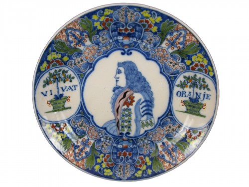 18th century Delft earthenware plate