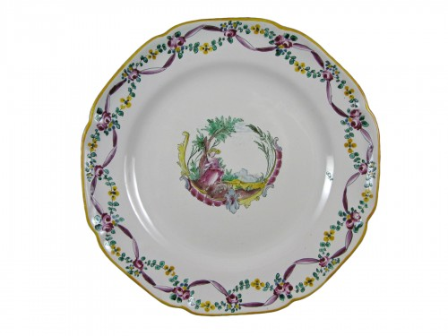 18th century Moustiers earthenware plate