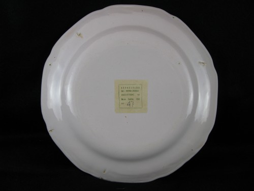 18th century Moustiers earthenware plate -