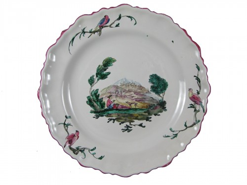 18th century Moustiers faïence plate