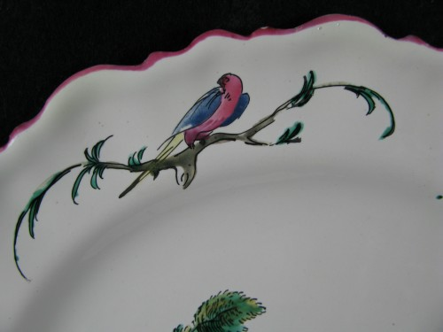 18th century Moustiers faïence plate -