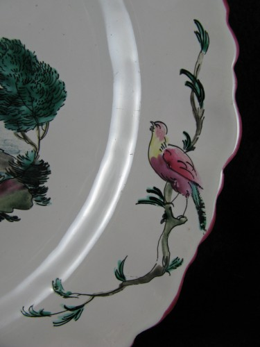18th century - 18th century Moustiers faïence plate