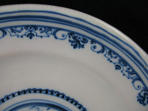 18th century Varages faïence soup plate -