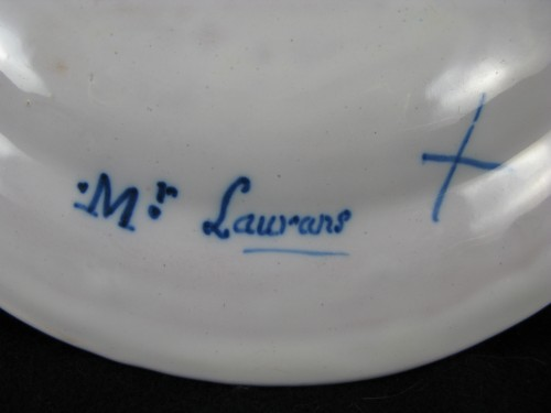 Louis XVI - 18th century Varages faïence soup plate