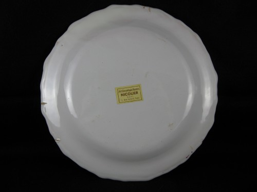 Earthenware plate of Varages 18th century -