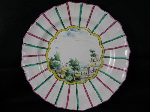 Earthenware plate of Varages 18th century - Louis XV