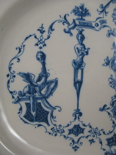 Large earthenware dish from Moustiers 18th century - Louis XV